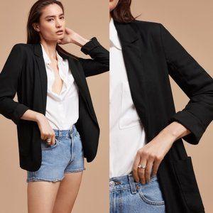 ARITZIA Black Kent Open Front Blazer Jacket